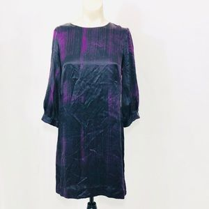 French Connection Silk 3/4 Sleeve Dress Size 2